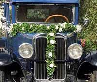 Autoschmuck zur Hochzeit Dresden von der Gärtnerei Hofmann
