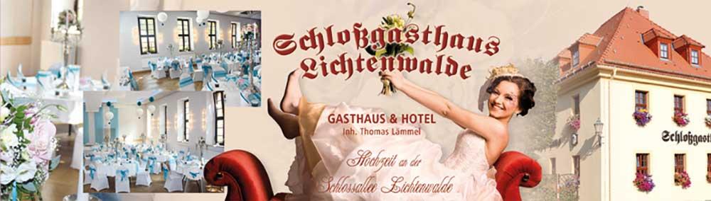 Hochzeit in Lichtenwalde im Schlossgasthaus Lichtenwalde