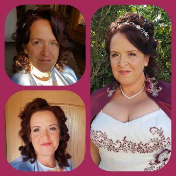 Vor- und Nachher Bilder Brautstyling Salon Leischner