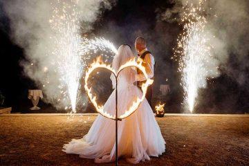 Brennendes Herz zur Hochzeit