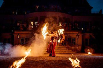 Feuershow zur Hochzeit Leipzig