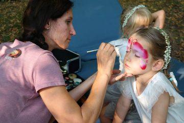 Kinderunterhaltung und Kinderschminken zur Hochzeit in Dresden und Umgebung durch creativkopf