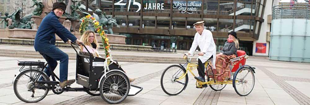 Rikschafahrten in Leipzig zur Hochzeit