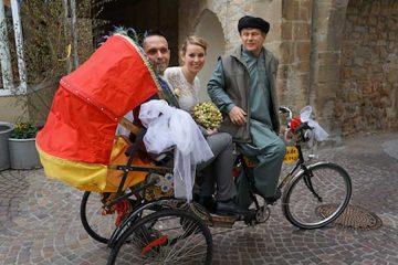 Rikschafahrt zur Hochzeit Leipzig